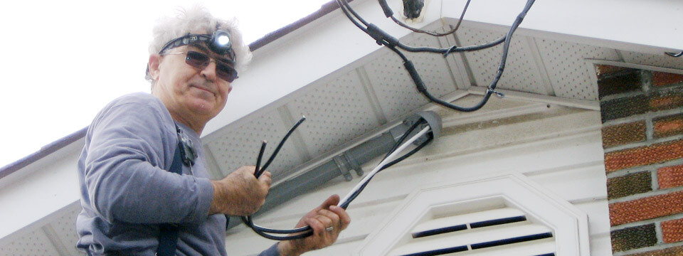 Licensed & Insured Master Electrician Working Outside